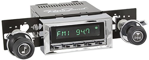 RetroSound HC-116-37-73 Hermosa Direct-fit Radio for Classic Vehicles (Chrome Face & Buttons and Chrome Bezel) ()