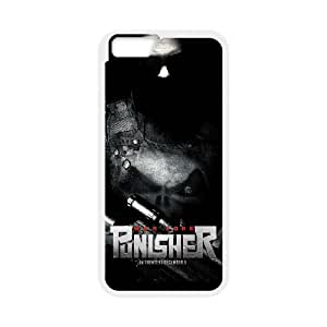 Generic hard plastic Frank Castle Punisher Cell Phone Case for iPhone 6 Plus 6S Plus 5.5 inch White ABC8353611