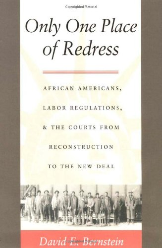 Search : Only One Place of Redress: African Americans, Labor Regulations, and the Courts from Reconstruction to the New Deal (Constitutional Conflicts)