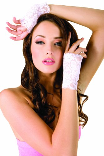 Pink Lace Fingerless Gloves (ToBeInStyle Women's Lace Fingerless Gloves - One Size - Baby Pink)