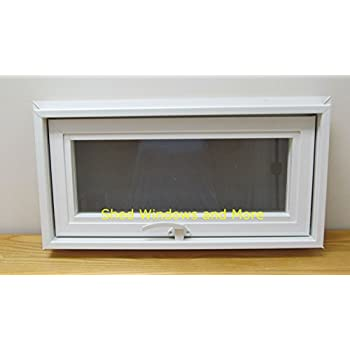 Transom/Awning Window 24  x 12  Insulating Window Tiny House Sheds House Windows PLayhouse Windows  sc 1 st  Amazon.com & Basement or Crawl Space Window with Fans - 16