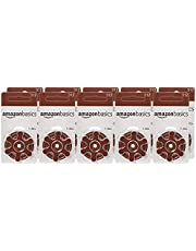 AmazonBasics 1.45 Volt Hearing Aid Batteries, 60-Count