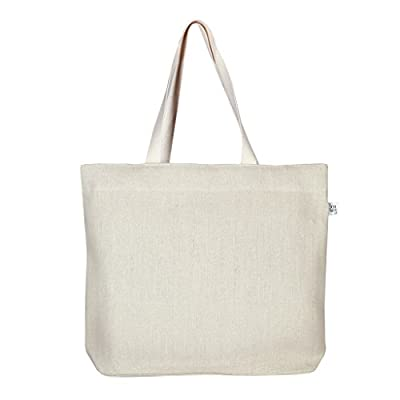 Ecoright 100% Jute Cotton Printed Large Tote Bag