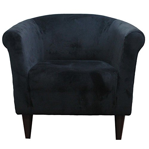 Upholstered armchair accent barrel back arm chair