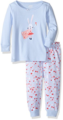 Gymboree Big Girls' Pink Cat Graphic Tight-Fit Pajamas
