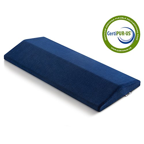 Lumbar Sleep Pillow - Memory Foam Lumbar Support Pillow - Jiaao Soft Sleeping Pillow for Lower Back, Leg, Knee & Hip Pain Relief, Orthopedic Bed Cushion for Back & Side Sleepers, Including Remoable Cover with Zipper,Navy