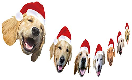 Golden Retriever Christmas Garland, Dog Christmas Party Decoration, Funny Xmas Gift for Dog Lover