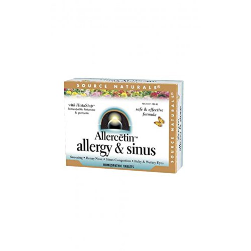 Source Naturals - Allercetin, Allergy and Sinus, 48 Homeopathic Tablets