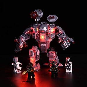 GODNECE Éclairage pour Lego Kit LED pour Lego Jeu De Lumières pour Lego 76124 Marvel Super Heroes – L'armure de War…