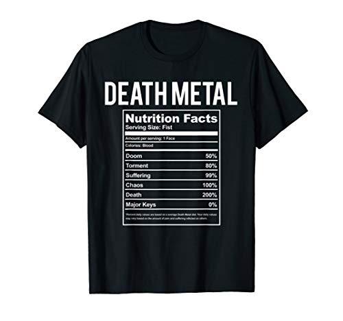 Funny Brutal Death Metal Nutrition Facts Shirt Concert Gift