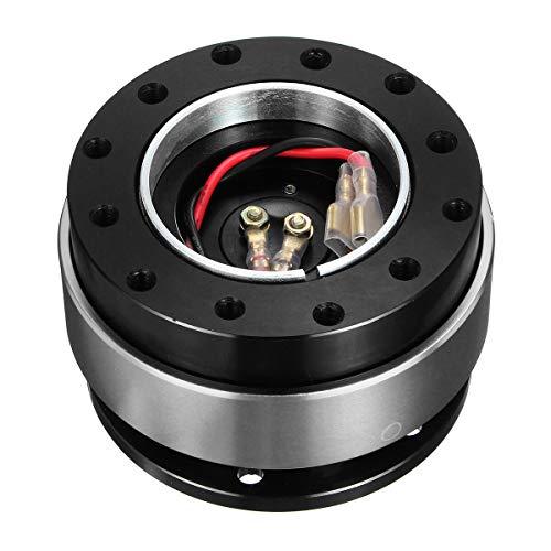Star-Trade-Inc - Universal Car Auto Quick Release Steering Wheel Snap Off Hub Adapter Boss Kit Aluminum 6 Hole