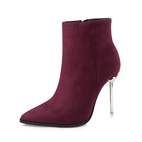 FLYRCX Sexy Meine Damen Sexy FLYRCX Persönlichkeit modische hochhackigen Stiefeln scharfe Spitze Schuhe im Herbst und Winter 560449