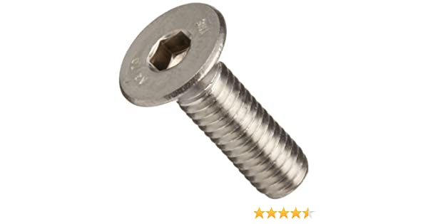Fully Threaded Pack of 10 Flat Head Vented Internal Hex Drive Plain Finish 1//4-20 UNC Threads 18-8 Stainless Steel Socket Cap Screw 5//8 Length