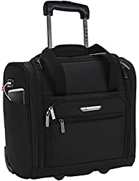 """15"""" Smart Under Seat Carry-On Luggage with USB Charging Port, Black Option, One Size"""