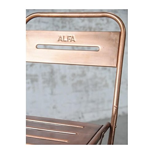 En Cuivré Chaise Pliante Mathi Design Steel Métal jLUVSzGpqM
