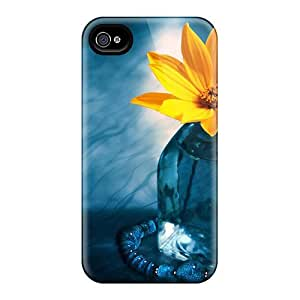 Hard Plastic Iphone 4/4s Case Back Cover,hot Pretty Yellow Flower Case At Perfect Diy