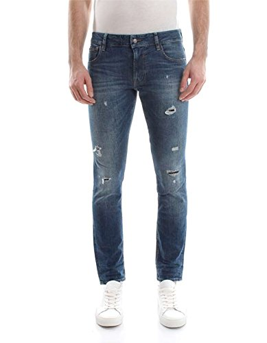 Guess Jeans Desgastados Rotos Azules Hombre (31 - Azul ...