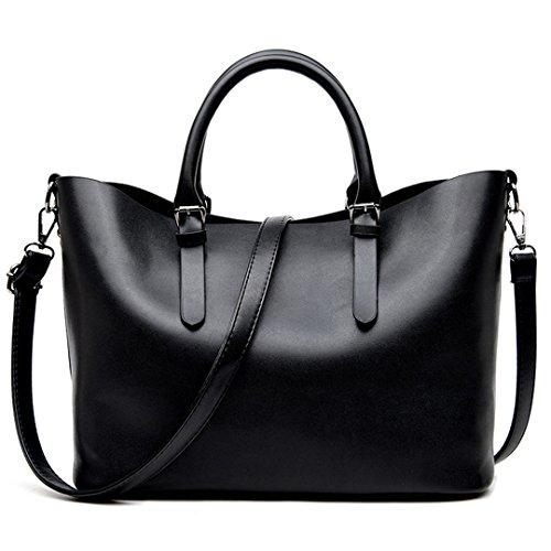 Black Woman Bag Leather Hobos Bag Handbags Fashion NEW Shoulder Brand Women Big Spring Casual Tote Bags Ladies For qRTw41W