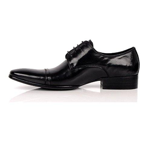 Stile Indossare in Uomo Stringate Black Pelle Scarpe Chic Comode Punta da Lavoro da Scarpe da A Versione Europea BOqvYaa