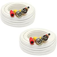 2 Pack of 60 Feet All-In-One Siamese CCTV Security Camera BNC Video and Power Cable for Surveillance System