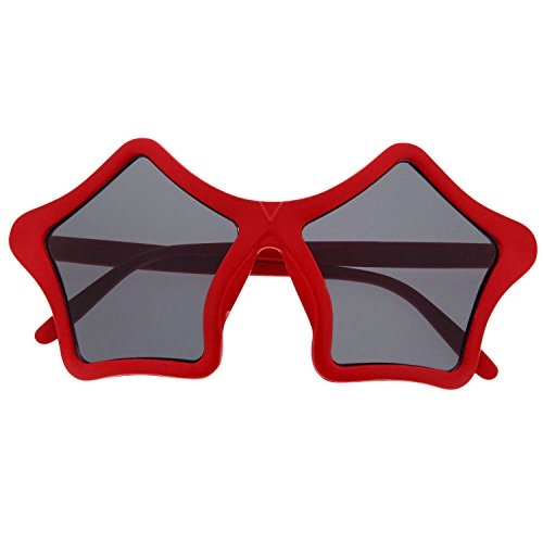 grinderPUNCH Star Shaped Sunglasses Shades Super Sunnies Novelty - Red Star Sunglasses