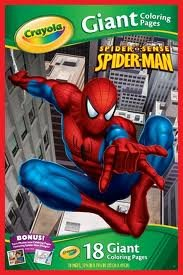 Crayola Marvel Spiderman Giant Coloring Pages]()
