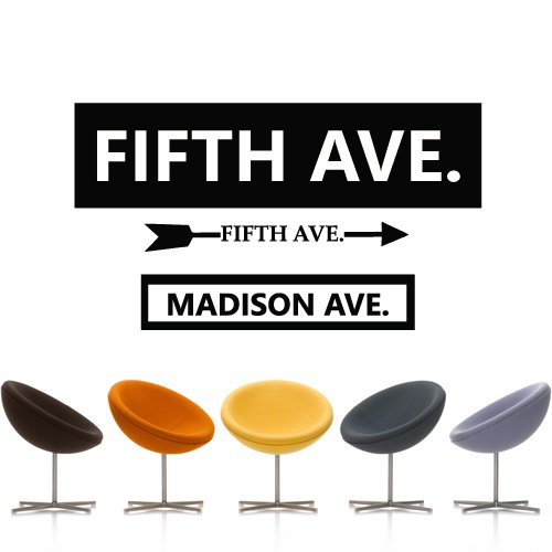 Wall Decal Fifth Avenue Five Street New York Shop Attraction Inscription M1311