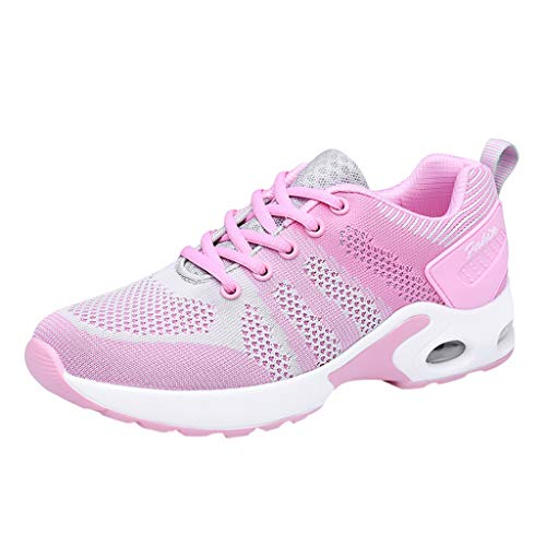 - NEEKEY Ladies Fashion Flying Woven Casual Cushion Cushioning Breathable Platform Sports Shoes Sneakers