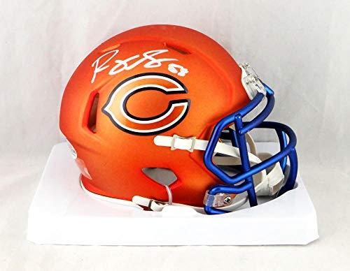 Roquan Smith Autographed Chicago Bears Blaze Mini Helmet- Beckett Auth White ()