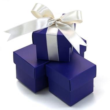 Koyal 2-Piece 50-Pack Square Favor Boxes, RoyalBlue