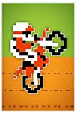 Wheelie 8-bit Video Game Art Print 24 x 36in