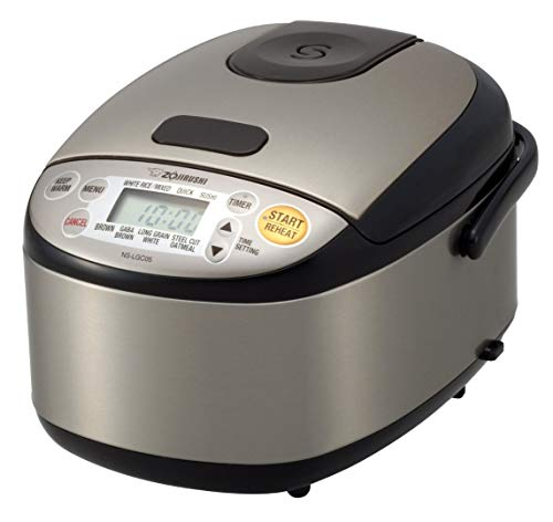 Zojirushi NS-LGC05XB Micom Rice Cooker & Warmer, 3-Cup, Stainless Black