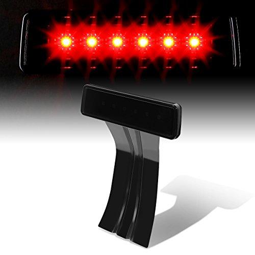 Smoked Led Rear Lights (Jeep Wrangler JK LED High Mount Rear 3rd Third Brake Light (Smoked Lens))