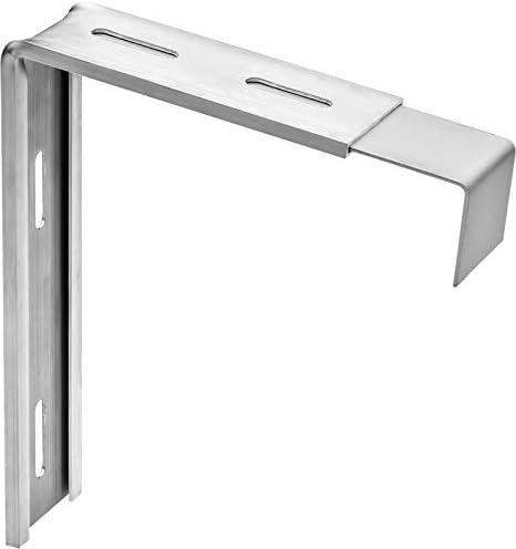 Variohalter Fensterbankhalter Fensterbretthalter Fensterbankbefestigung Ausladung Fensterbank max Tropfkante 300mm Ma/ß B 40mm 200mm