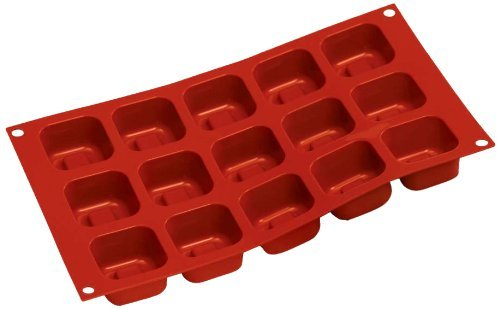 Silikomart SF081/C Silicone Classic Collection Mold Shapes, Square Savarin, Large