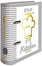 HERMA 15416 para recetas libro de cocina para selberschreiben, DIN A5, de cartón estable, con dorado y registro de 5 piezas, 70 mm de ancho, 1 carpeta