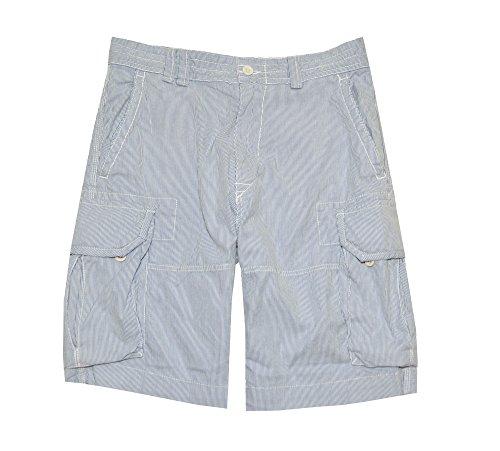 Flap Pocket Striped Shorts - Polo Ralph Lauren Men's Striped Cargo Shorts (32, Blue/White)