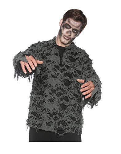 Men's Tattered Zombie Ghost Pirate Costume Shirt, One Size]()