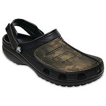 Crocs - Mens Yukon Mesa Camo Clog Shoes, 11 D(M) US Mens, Black/Camo
