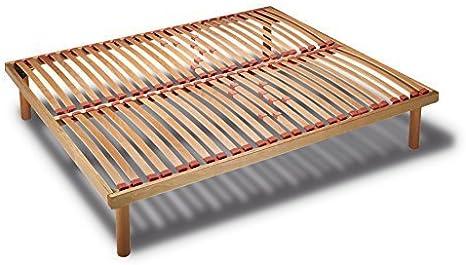 Somier ergonómico doble de madera con láminas basculantes Svezia