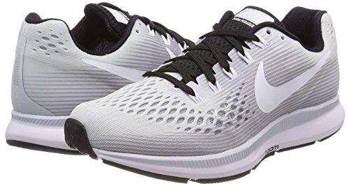 Tb W 002 De Nike 34 Platino negro Running blanco Para Zoom Zapatillas Plateado Pegasus Mujer puro Air pXxFx4