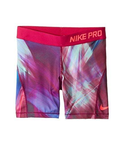 Nike Girl's Dri-Fit Pro Cool Training Shorts Pink Purple Green (s)
