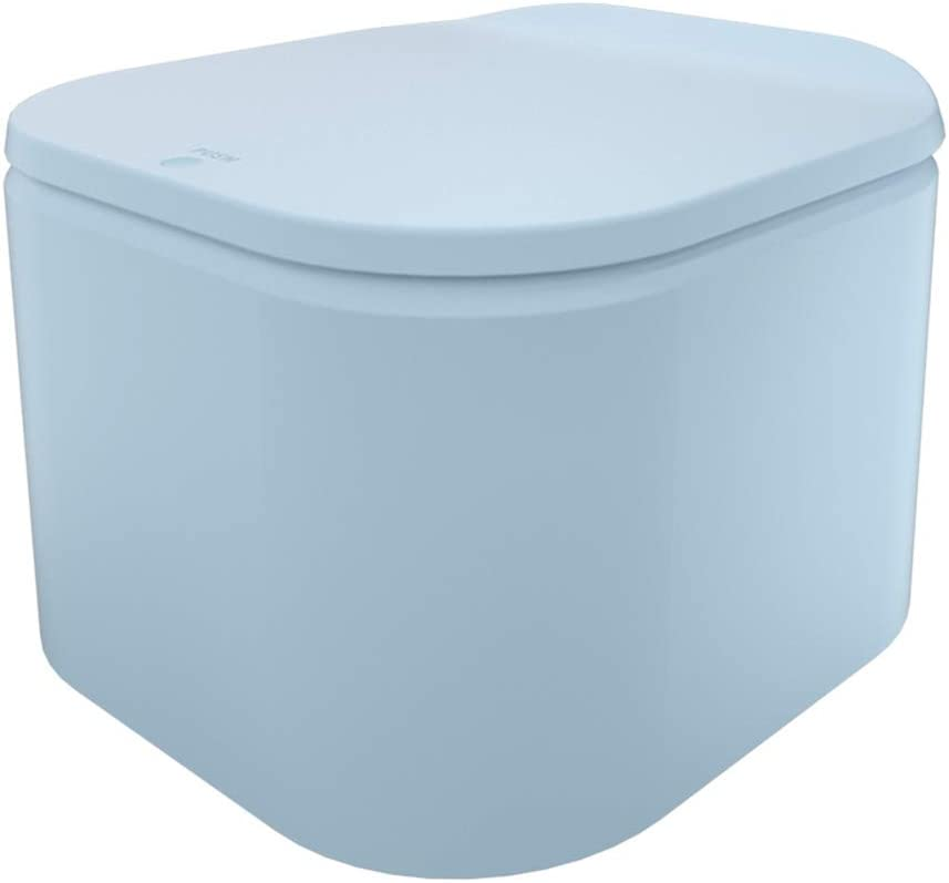 GANCHUN Small Trash Can with Lid for Bathroom Trash Can with Removable Inner Wastebasket (Blue)