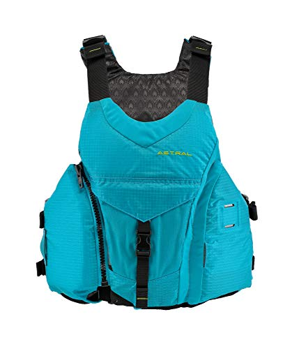Astral Women's Layla Life Jacket PFD for Whitewater, Sea, Touring Kayaking, Stand Up Paddle Boarding, and Fishing, Glacier Blue Large/X-Large