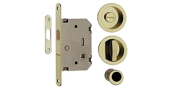 1 kit para puertas correderas con bloc de notas desplegable Tot. Oro - Brillante: Amazon.es: Bricolaje y herramientas