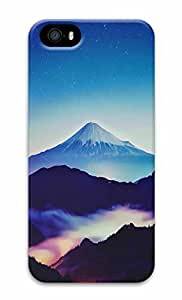 Unique Design Cases for iPhone 5 3D Hills Scenery Cover