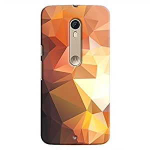 Cover It Up - Brown Gold Pixel Triangles Motorola Moto X Style Hard Case