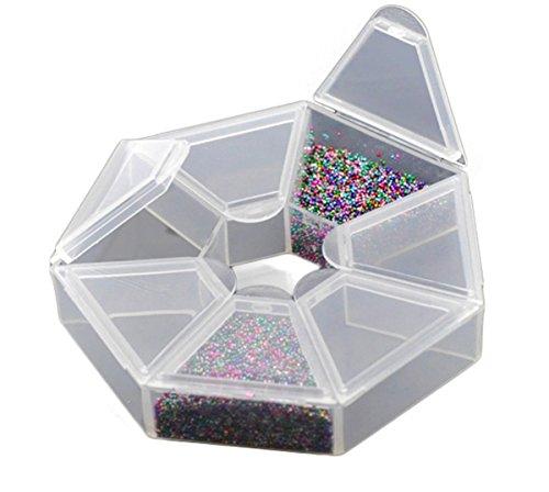Housweetyシンプルジュエリー&小物ストレージボックス アクセサリー収納ケース プラスチックビーズケース 7仕切り