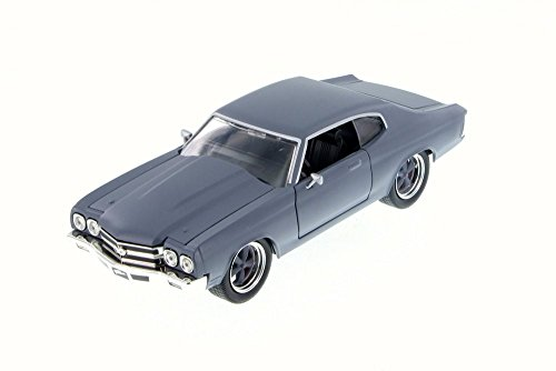 1970 Chevy Cars (Jada 1970 Dom's Chevy Chevelle SS, Primer Gray 97308 - 1/24 Scale Diecast Model Toy Car)