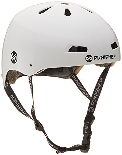 Best Buy! Punisher Skateboards Pro Series 13-Vent Dual Safety Certified BMX Bike and Skateboard Helm...